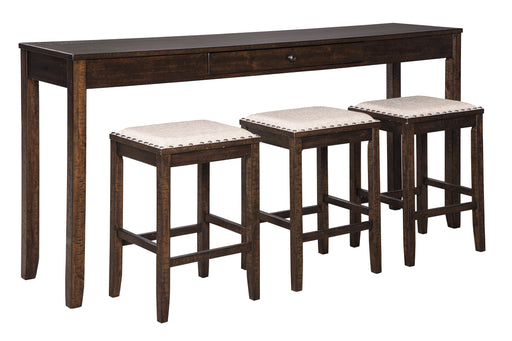 Rokane Counter Height 4-Piece Table Set - Canales Furniture