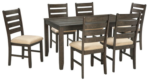 Rokane 7-Piece Counter Height Dining Room Set - Canales Furniture
