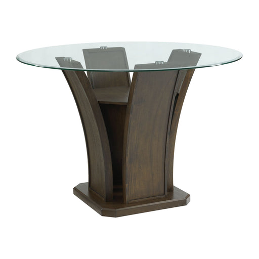 Dapper Grey Round Counter Height Table - Canales Furniture