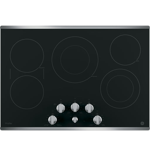 "GE Profile™ 30"" Built-In Knob Control Electric Cooktop - Canales Furniture"