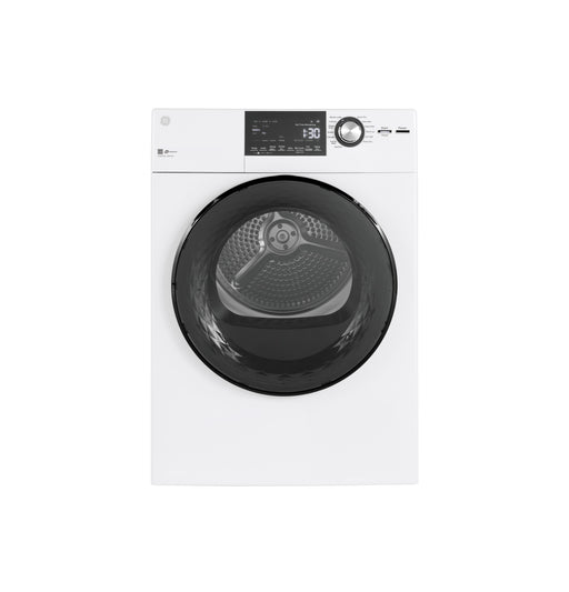 "GE® 24"" 4.3 Cu.Ft. Front Load Vented Electric Dryer with Stainless Steel Basket - Canales Furniture"