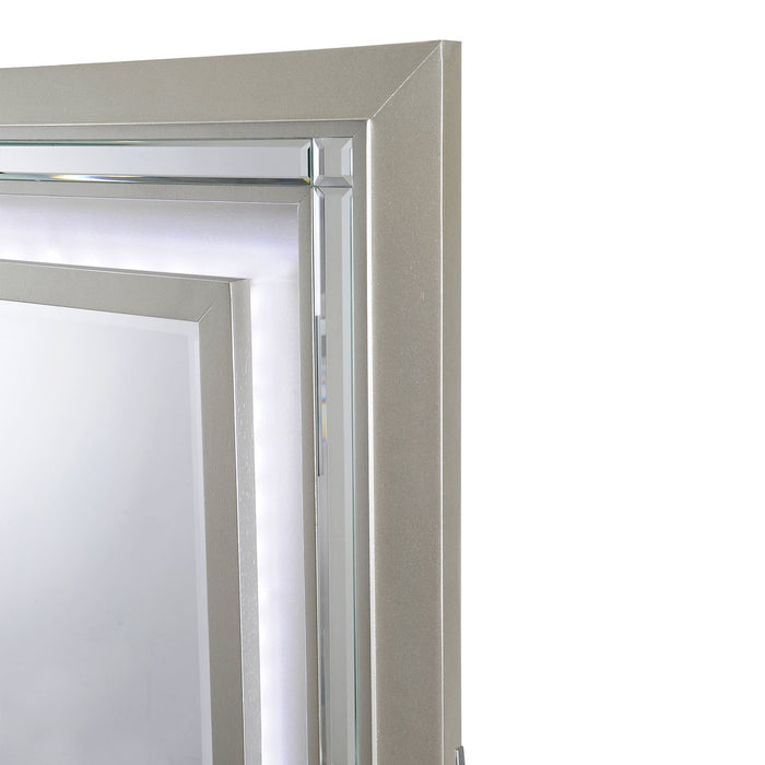 Platinum Mirror with LED Light - Canales Furniture