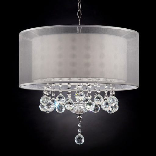 "Lila Silver 19""H Ceiling Lamp - Canales Furniture"