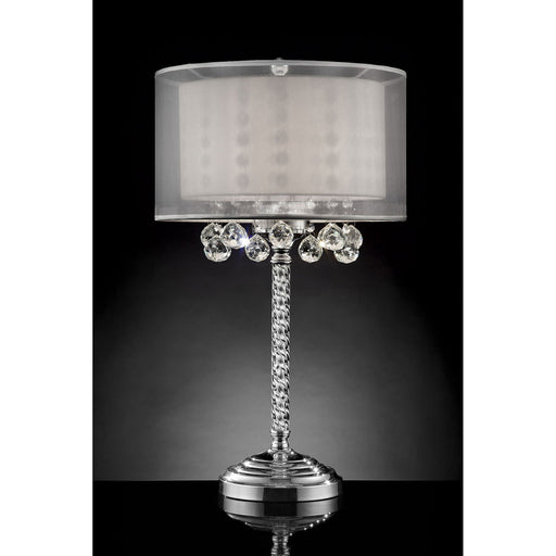 "Lila Silver 78.5""H Table Lamp - Canales Furniture"