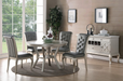 Silver Round Dining Set - Canales Furniture