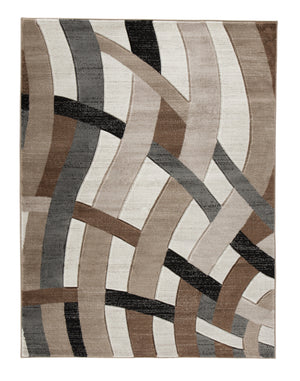 "Jacinth - Brown Rugs Rugs Ashley 78"" W x 114"" D x 0.47"" H"
