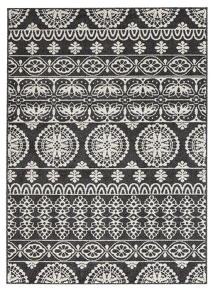"Jicarilla - Black/White Rugs Rugs Ashley 96"" W x 120"" D x 0.31"" H"