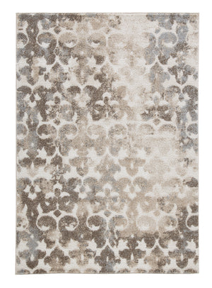 Jiro - Brown/Cream Medium Rug Rugs Ashley