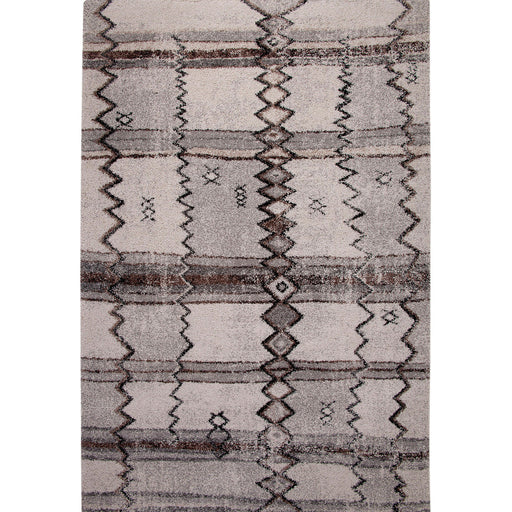 "Gresford Gray/Black 5'3"" X 7'6"" Area Rug - Canales Furniture"