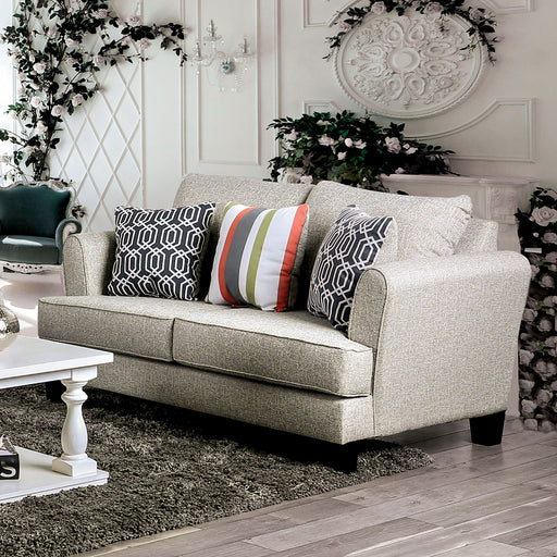 Denbigh Gray Love Seat - Canales Furniture