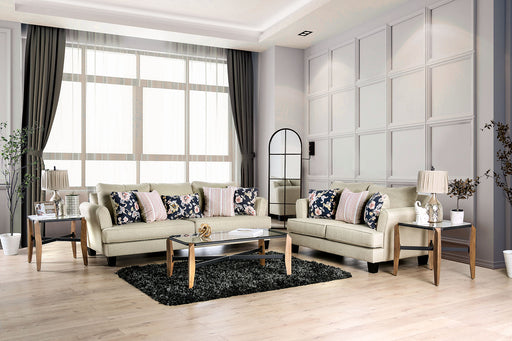Denbigh Beige Sofa + Love Seat - Canales Furniture