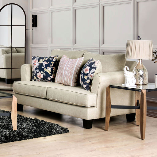 Denbigh Beige Love Seat - Canales Furniture