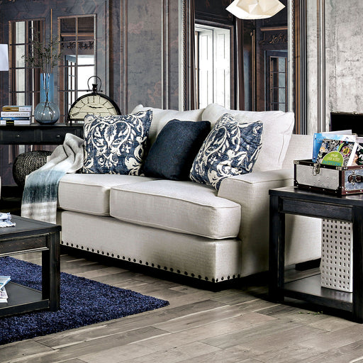 Germaine Ivory Love Seat - Canales Furniture