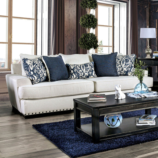 Germaine Ivory Sofa - Canales Furniture