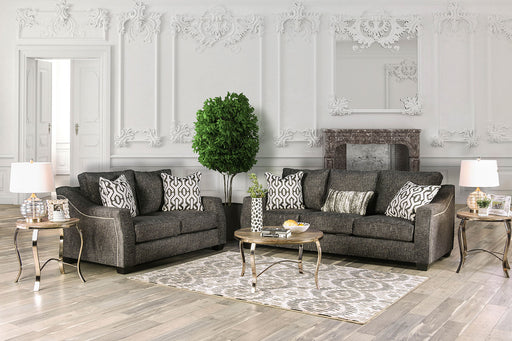 Coralie Charcoal Sofa + Love Seat - Canales Furniture