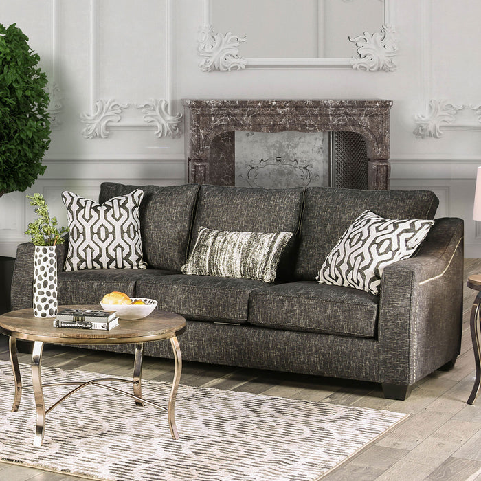 Coralie Charcoal Sofa - Canales Furniture