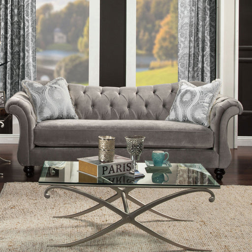 ANTOINETTE Dolphin Gray Sofa, Dolphin Gray - Canales Furniture