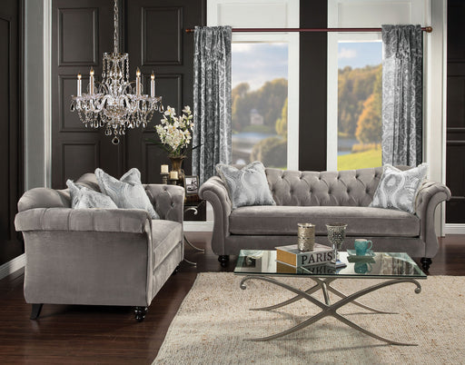 ANTOINETTE Dolphin Gray Sofa + Love Seat - Canales Furniture