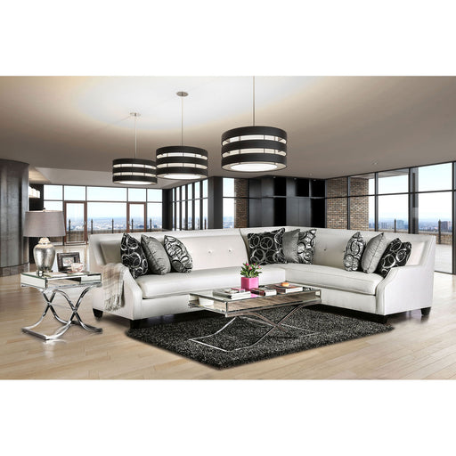 BETRIA /Black Off-White/Silver Sectional - Canales Furniture