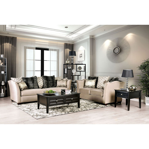 Hampden Beige Sofa + Love Seat - Canales Furniture