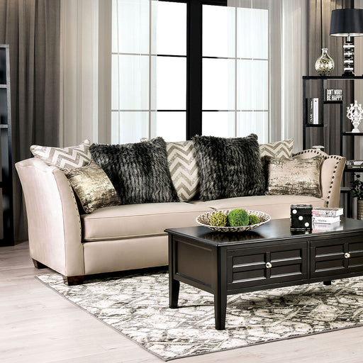 Hampden Beige Sofa - Canales Furniture