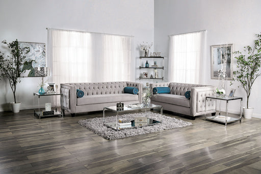 Silvan Gray Sofa + Love Seat - Canales Furniture