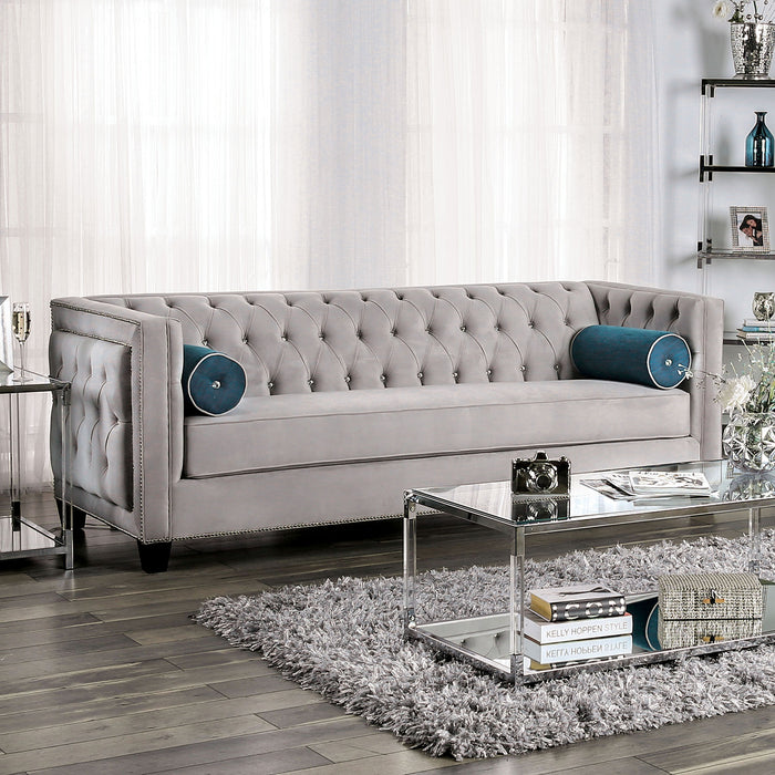 Silvan Gray Sofa - Canales Furniture