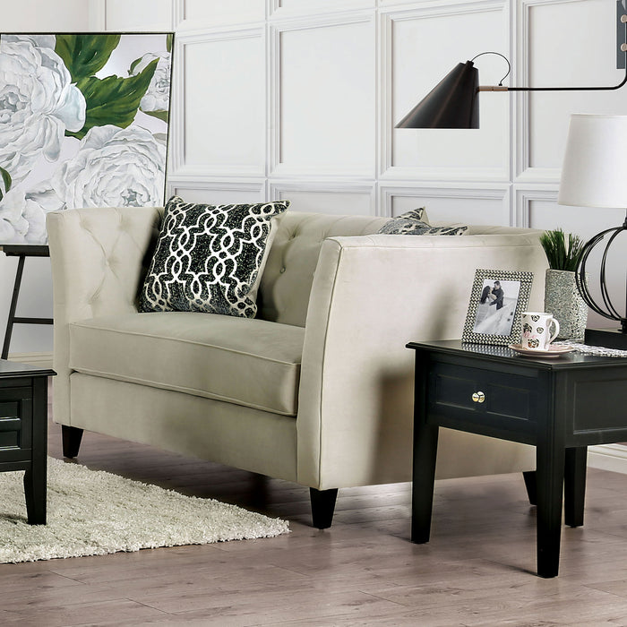 Monaghan Ivory Love Seat - Canales Furniture