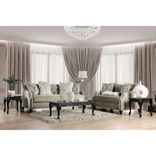 Ezrin Light Brown Sofa + Love Seat - Canales Furniture