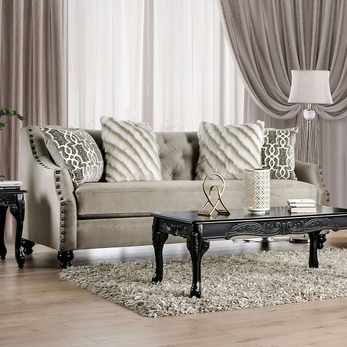 Ezrin Light Brown Sofa - Canales Furniture
