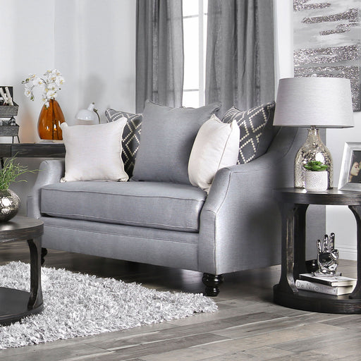 Nefyn Gray Love Seat - Canales Furniture