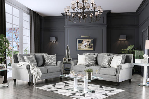 Giovanni Gray Sofa + Love Seat - Canales Furniture