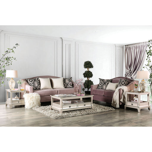 Campana Blush Pink Sofa + Love Seat - Canales Furniture