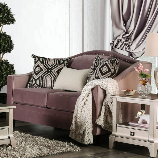 Campana Blush Pink Love Seat - Canales Furniture