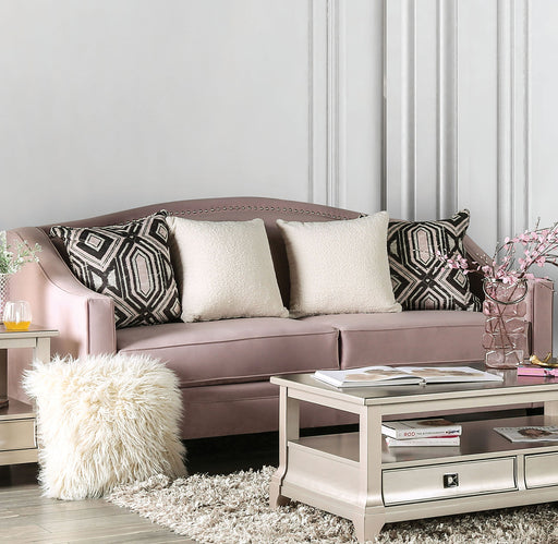 Campana Blush Pink Sofa - Canales Furniture