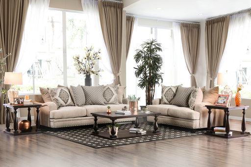 Jaylinn Light Brown Sofa + Love Seat - Canales Furniture