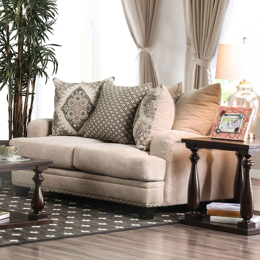 Jaylinn Light Brown Love Seat - Canales Furniture