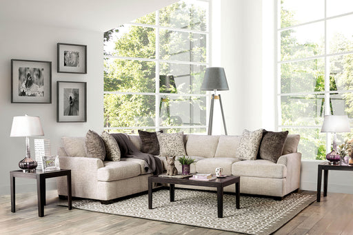 Alisa Beige Sectional - Canales Furniture