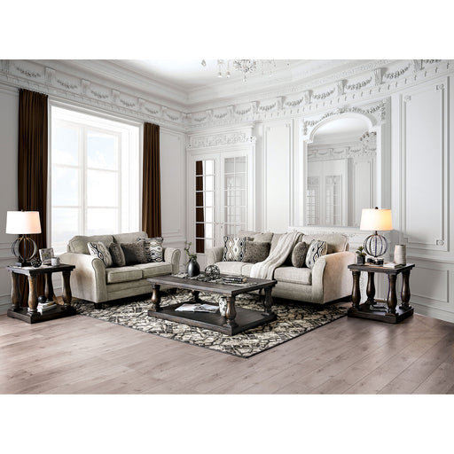 Aleah Light Gray Sofa + Love Seat - Canales Furniture