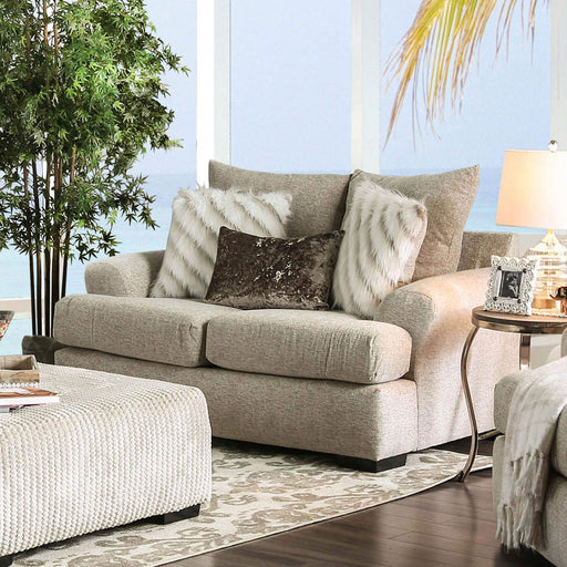 Anthea Beige Love Seat - Canales Furniture