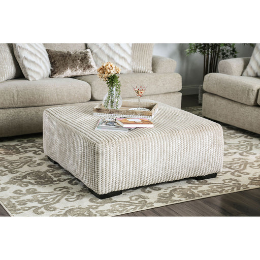 Anthea Beige Ottoman - Canales Furniture