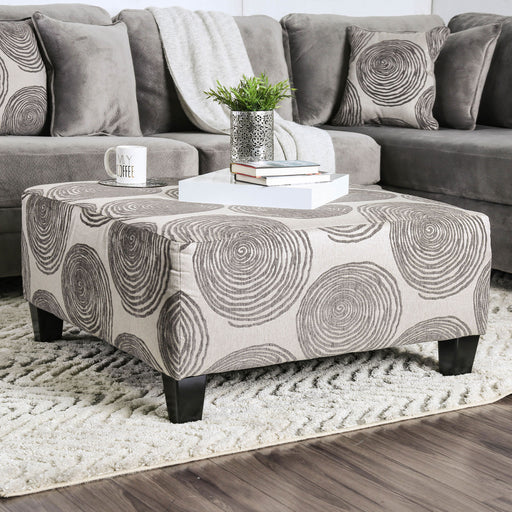 Bonaventura Gray/Pattern Ottoman - Canales Furniture
