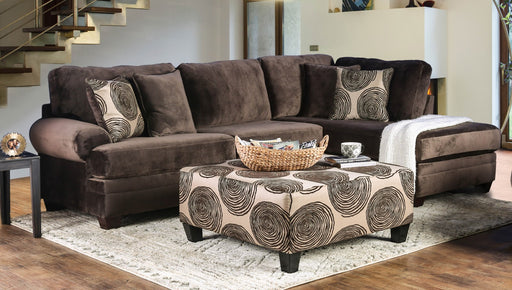Bonaventura Brown Sectional - Canales Furniture