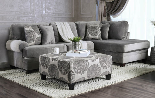Bonaventura Gray Sectional - Canales Furniture