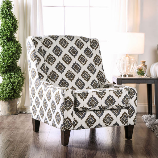 Reyna Ivory/Pattern Accent Chair - Canales Furniture