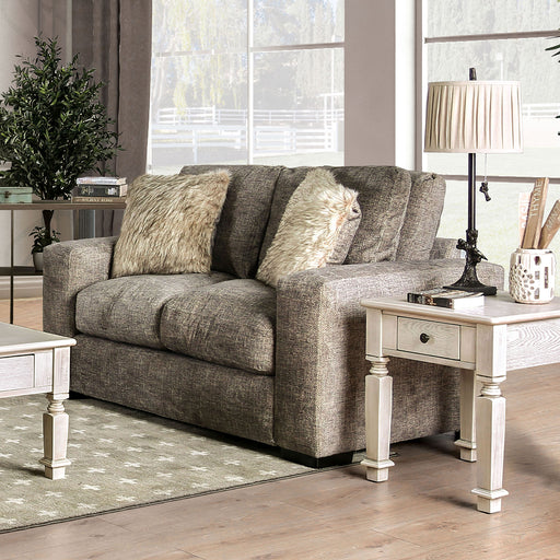 Crane Brown Love Seat - Canales Furniture