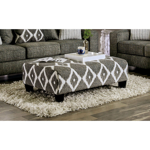Basie Gray Ottoman - Canales Furniture