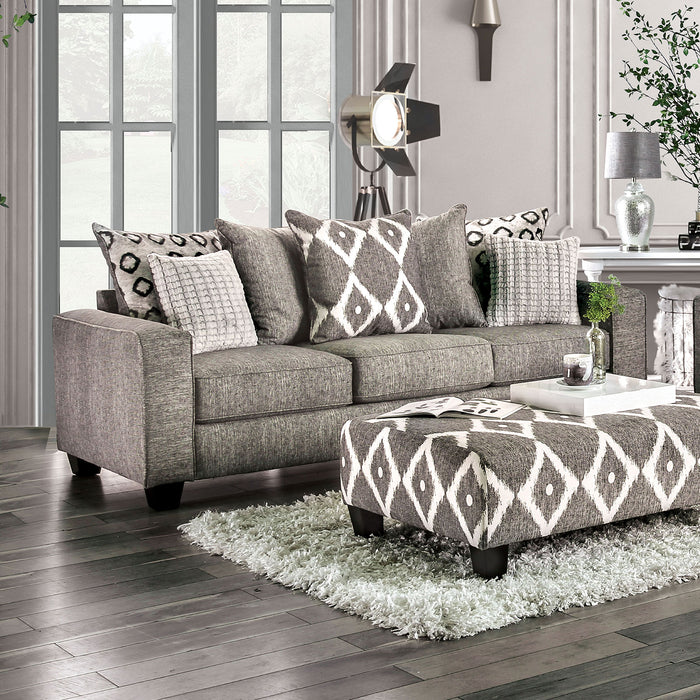 Basie Gray Sofa - Canales Furniture