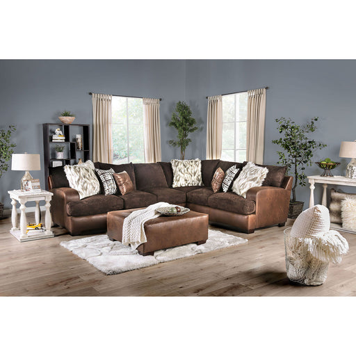 Gellhorn Brown Sectional - Canales Furniture
