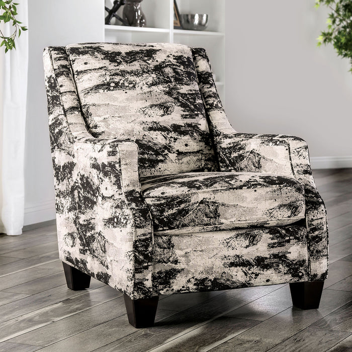 Barnett Ivory/Gray Accent Chair - Canales Furniture